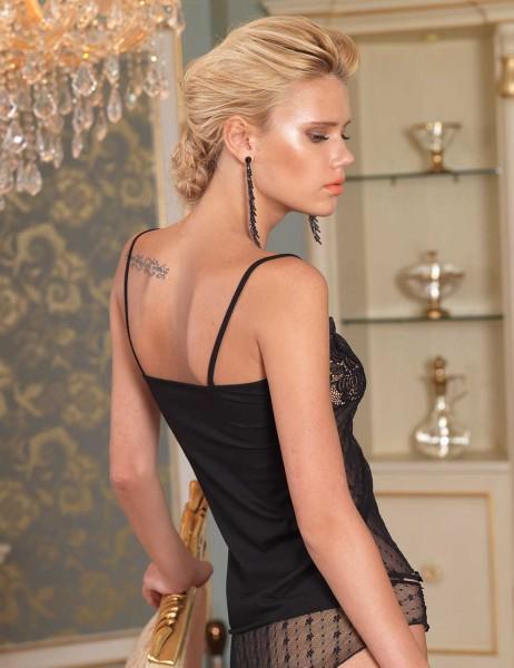 Şahinler - Sahinler Unterhemd und Slip Set mit Spitze schwarz MB2004 (1)