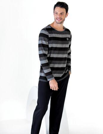 Şahinler - Şahinler Uzun Kollu Erkek Pijama Takımı MEP24712-1