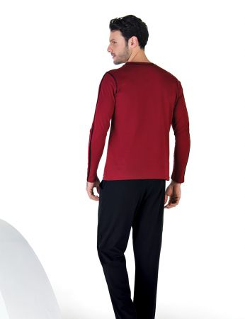 Şahinler - Şahinler Uzun Kollu Erkek Pijama Takımı MEP24713-1 (1)