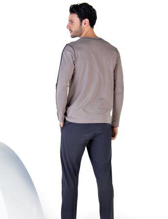 Şahinler - Şahinler Uzun Kollu Erkek Pijama Takımı MEP24713-2 (1)