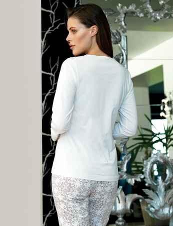 Şahinler Uzun Kollu Kadın Pijama Takımı MBP24116-1 - Thumbnail