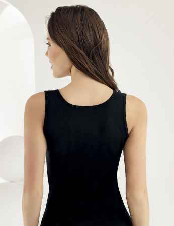 Şahinler - Sahinler Wide Strapped Rib Camisole Black MB004 (1)