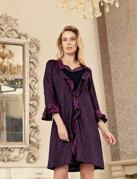 Şahinler - Şahinler Woman Nightgown & Morning gown Set MBP23433-1 (1)