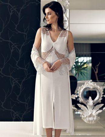 Şahinler - Şahinler Woman Nightgown & Morning Gown Set MBP24137-1