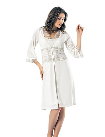 Şahinler - Şahinler Woman Nightgown & Morning Gown Set MBP24138-1