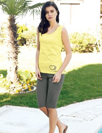 Şahinler - Şahinler Women Capri Set Yellow MBP24020-2