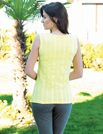 Şahinler - Şahinler Women Capri Set Yellow MBP24020-2 (1)