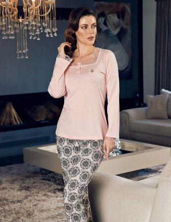 Şahinler - Şahinler Women Lace-neck Pajama Set MBP24135-1