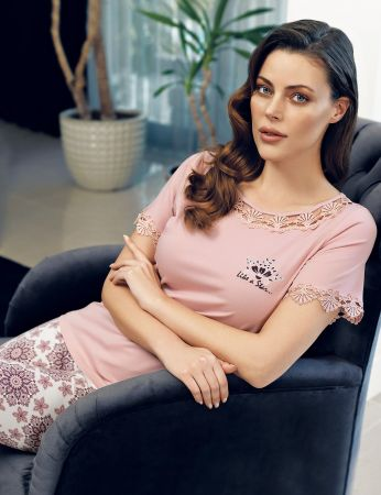 Şahinler - Şahinler Women Lace Pajama Set MBP24112-1