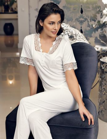 Şahinler - Şahinler Women Lace Pajama Set MBP24117-1