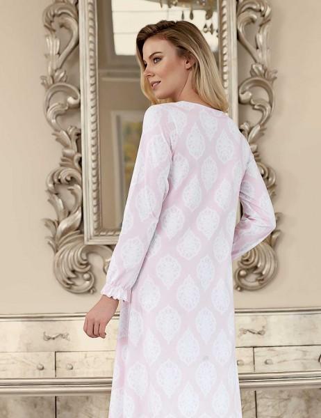 Şahinler - Şahinler Women Long Nightgown Pink MBP23420-1 (1)