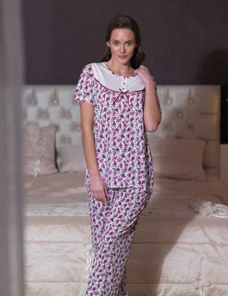 Şahinler - Sahinler Women Long Pajamas Fuschsia (Suprise Gift) MBP21539-2