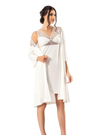 Şahinler - Şahinler Women Morning Gown - Night Gown Set MBP23738-1