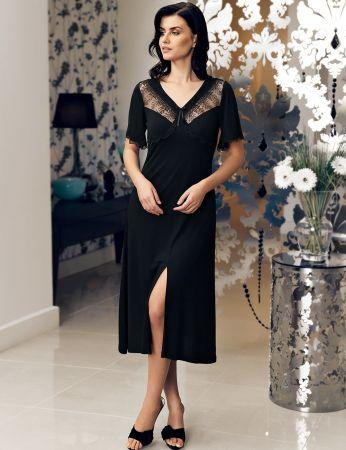 Şahinler - Şahinler Women Nightgown Black MBP24142-1