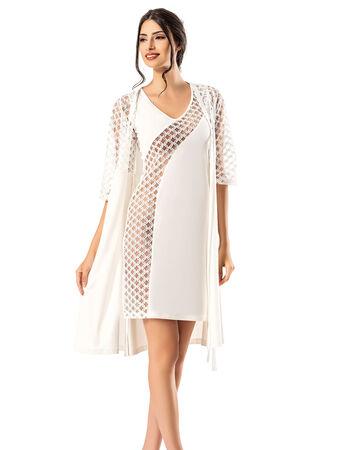 Şahinler - Şahinler Women Nightgown Morning Gown Set MBP23737-1