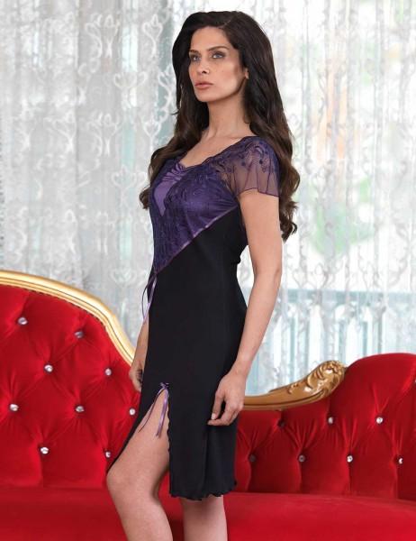 Şahinler - Sahinler Women Nightgown Set Black MBP23113-1 (1)