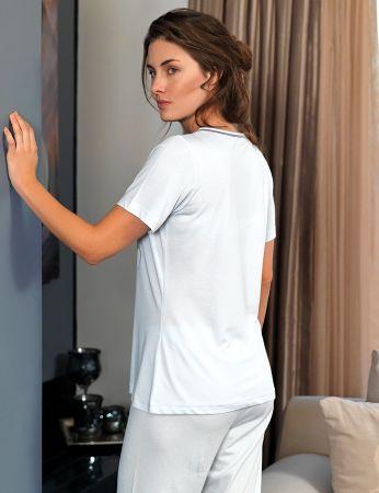 Şahinler - Şahinler Women Pajama Set Blue MBP24104-2 (1)