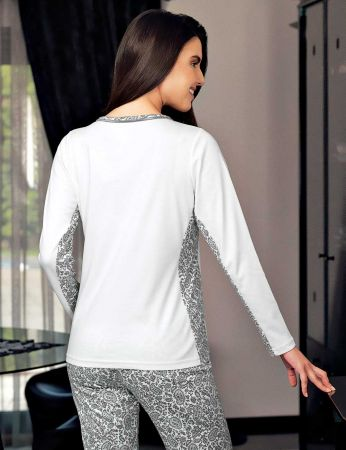 Şahinler - Şahinler Women Pajama Set Ecru MBP23711-1 (1)