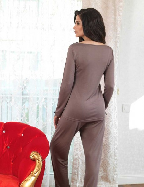Şahinler - Sahinler Women Pajama Set Mink MBP23115-2 (1)