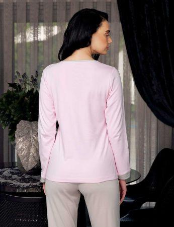 Şahinler - Şahinler Women Pajama Set Pink MBP23705-1 (1)