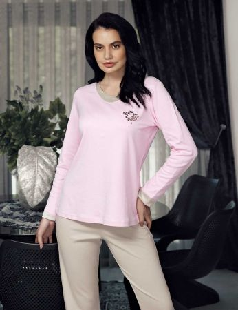 Şahinler - Şahinler Women Pajama Set Pink MBP23705-1
