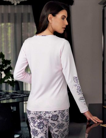 Şahinler - Şahinler Women Pajama Set Pink MBP23709-1 (1)