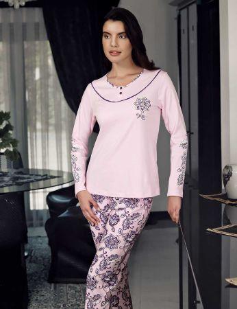 Şahinler - Şahinler Women Pajama Set Pink MBP23709-1