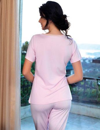 Şahinler - Şahinler Women Pajama Set Pink MBP24104-1 (1)