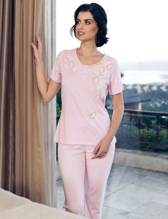 Şahinler - Şahinler Women Pajama Set Pink MBP24104-1