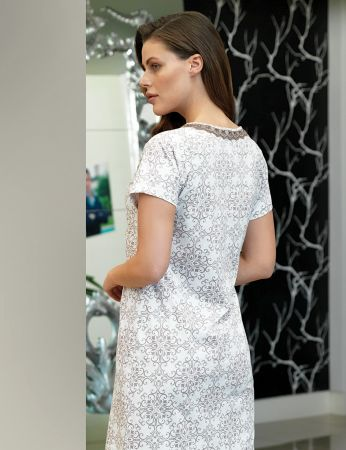 Şahinler - Şahinler Women Pattern Nightgown MBP24115-1 (1)