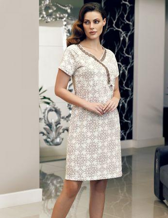 Şahinler - Şahinler Women Pattern Nightgown MBP24115-1