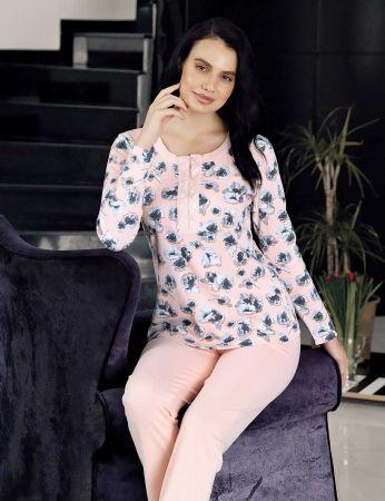 Şahinler - Şahinler Women Pattern Pajama Set MBP23714-1