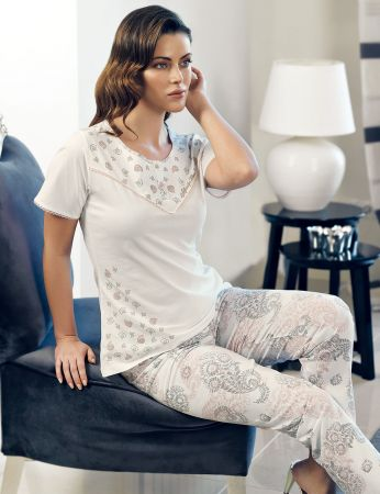 Şahinler - Şahinler Women Pattern Pajama Set MBP24131-1