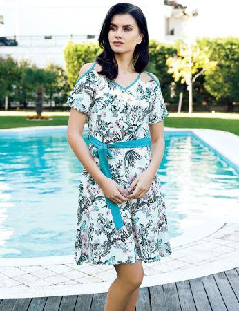 Şahinler - Şahinler Women Patterned Dress MBP24006-1