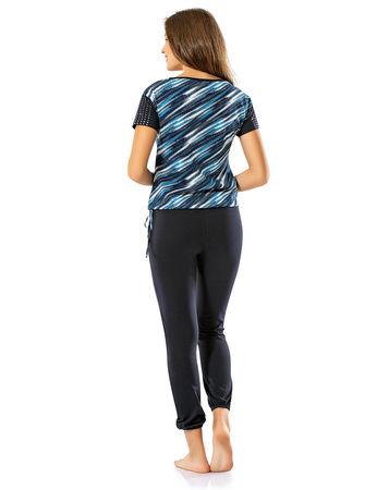 Şahinler - Şahinler Women Patterned Pajama Set Dark Blue MBP24033-1 (1)