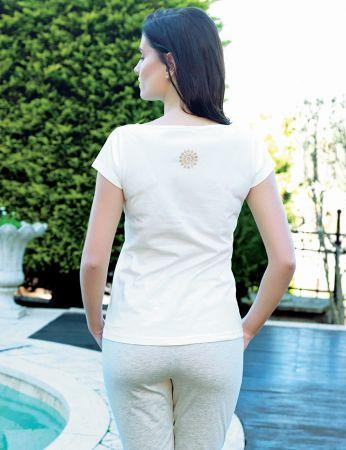 Şahinler - Şahinler Women Print Capri Set White MBP24022-1 (1)