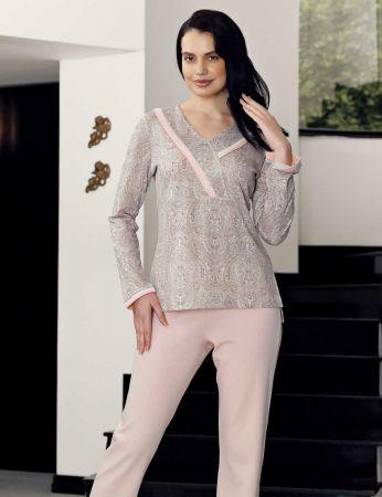 Şahinler - Şahinler Women Print Pajama Set MBP23722-1