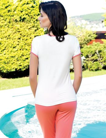 Şahinler - Şahinler Women Print Pajama Set Pomegranade MBP24032-2 (1)