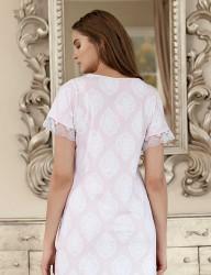 Şahinler Women Short Nightgown Pink MBP23419-1 - Thumbnail