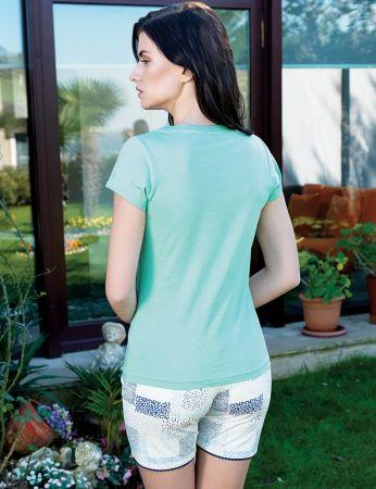Şahinler - Şahinler Women Short Set Green MBP24016-2 (1)