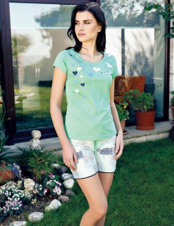 Şahinler - Şahinler Women Short Set Green MBP24016-2