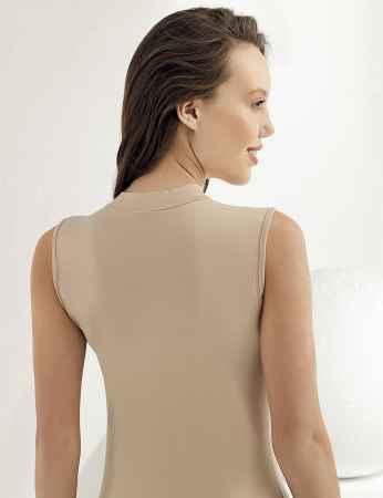 Şahinler - Sahinler Women Singlet Turtleneck Sleeveless Beige MB1009 (1)