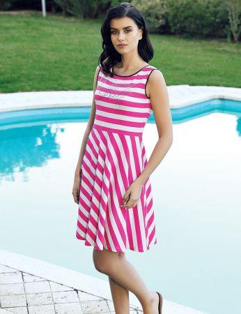 Şahinler - Şahinler Women Striped Dress MBP24043-1