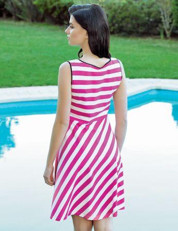 Şahinler - Şahinler Women Striped Dress MBP24043-1 (1)