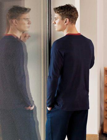 Şahinler - Şahinler Yaka Detaylı Erkek Pijama Takımı MEP24511-1 (1)