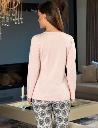 Şahinler - Şahinler Yakası Dantelli Kadın Pijama Takımı MBP24135-1 (1)