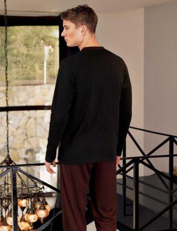 Şahinler - Şahinler Yakası Düğmeli Erkek Pijama Takımı MEP24505-1 (1)