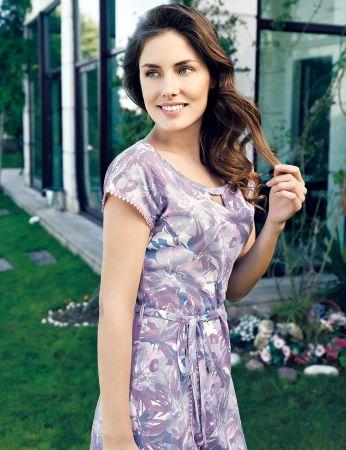 Şahinler - Şahinler Yazlık Kadın Elbise Desenli MBP24019-1 (1)