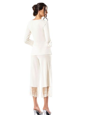 Şahinler - Şahinler Zakkum Dantelli Yırtmaçlı Bayan Pijama Takımı MBP24410-1 (1)