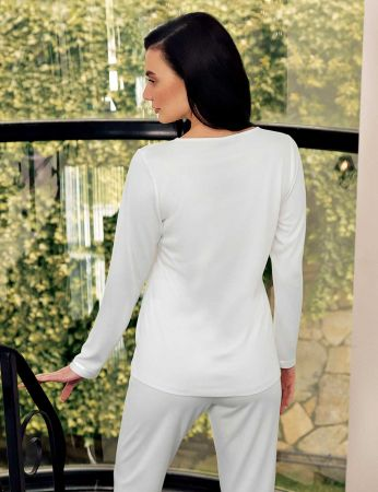 Şahinler - Şahinler Zakkum Nakışlı Bayan Pijama Takımı MBP24401-1 (1)